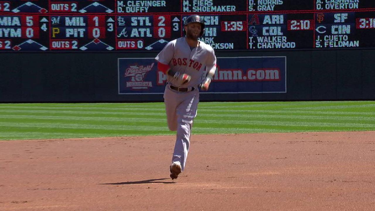 Pedroia's solo home run