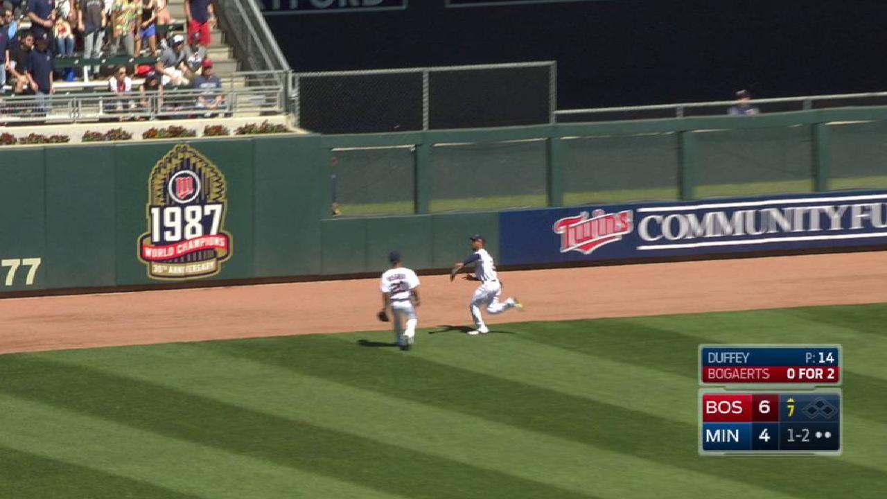Buxton's running grab in the gap