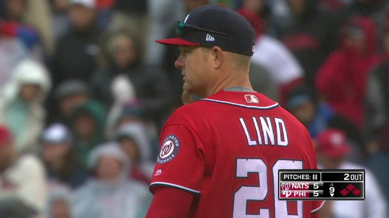 Lind's throw gets force at home