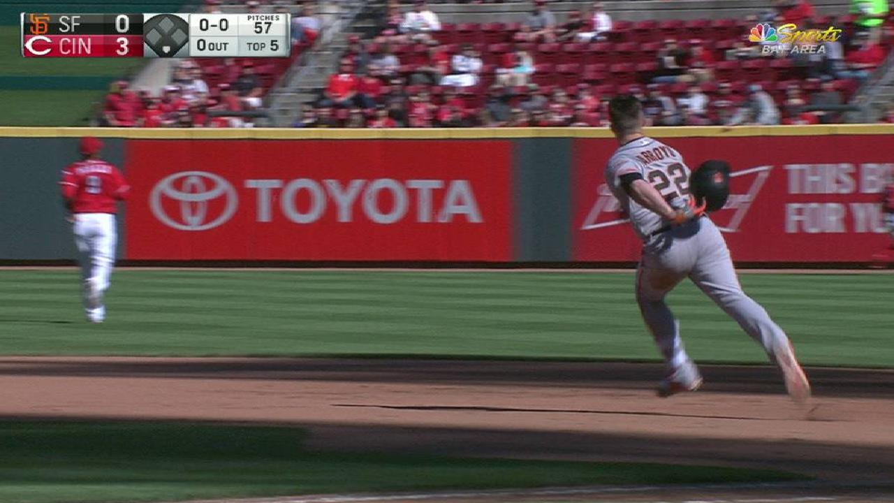Arroyo's first career double