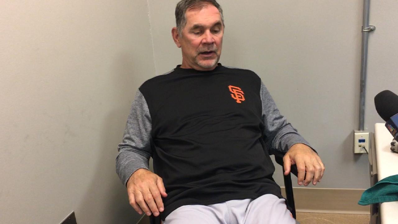 Bochy on Giants' offense in loss