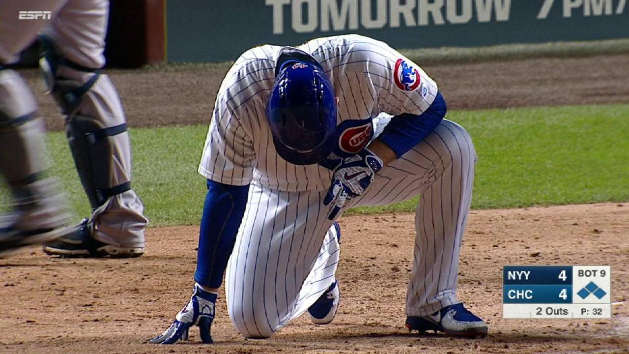 Rizzo ties game on HBP
