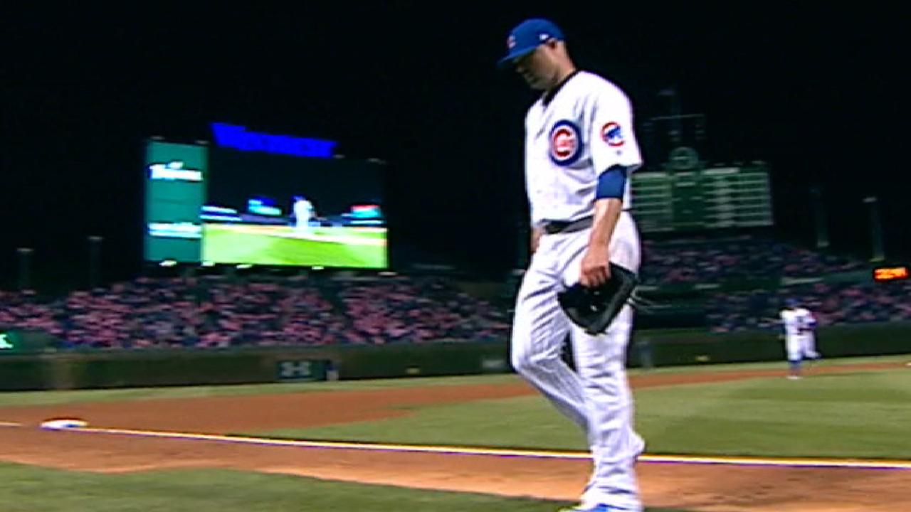 Lester strikes out nine batters