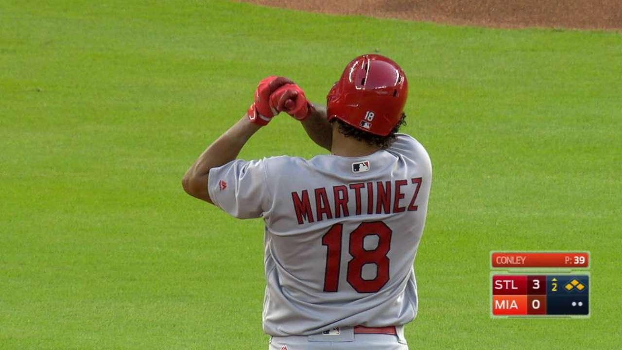 Martinez's three-run double