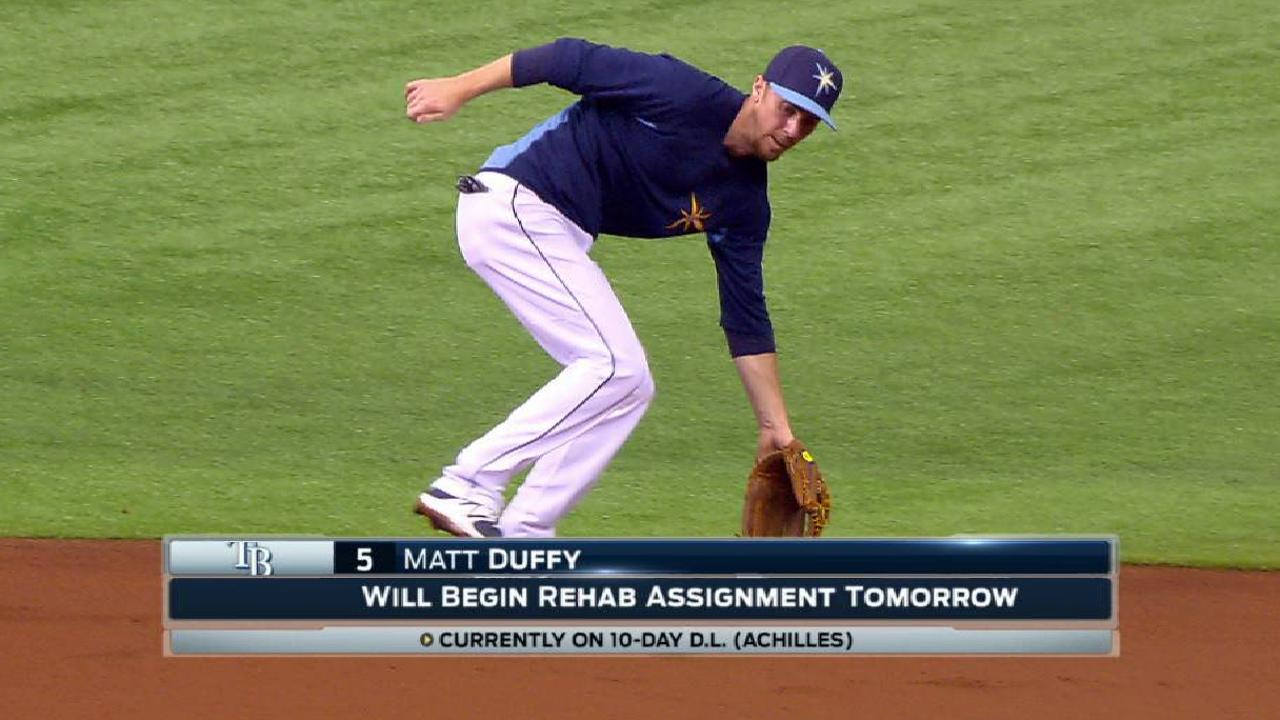 Duffy feeling good after 1st injury rehab game