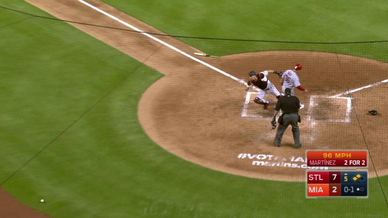 Cardinals plate two runs