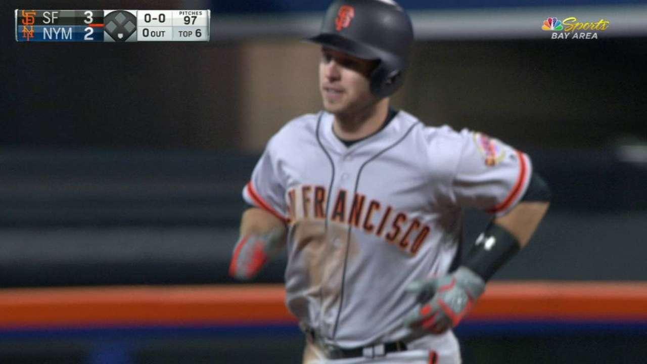 Posey's long solo home run