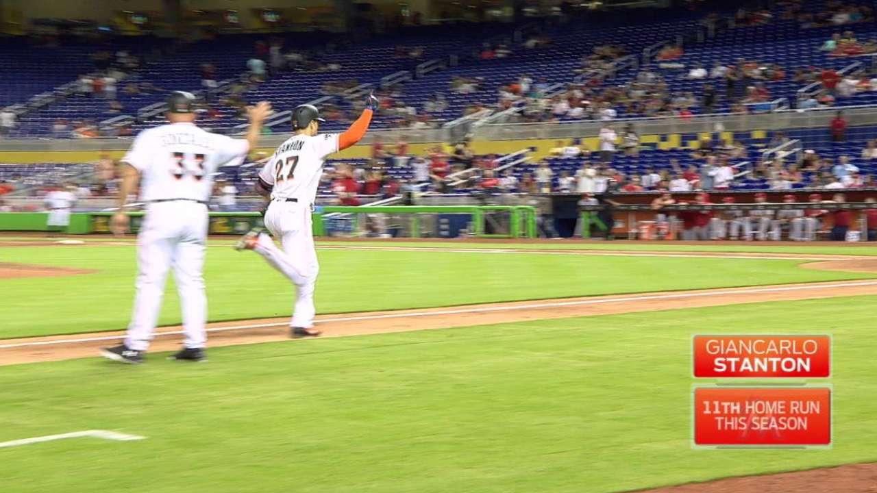 Stanton's solo home run