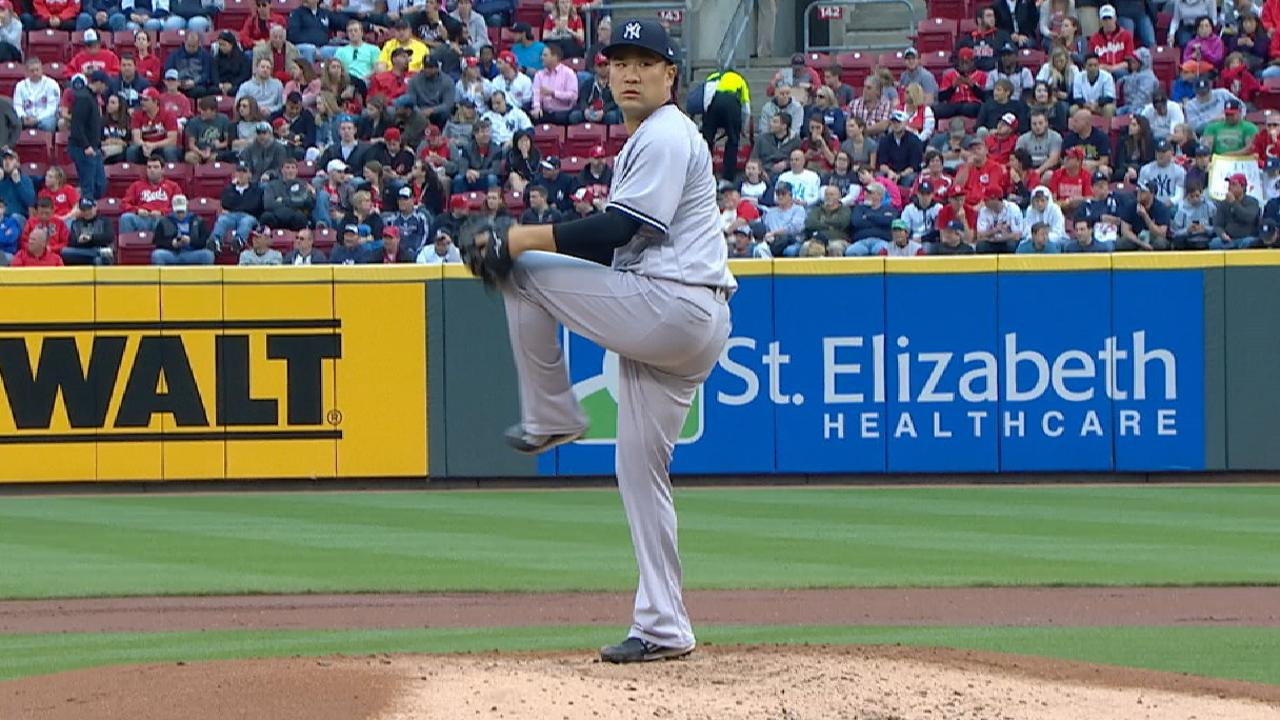 Tanaka earns the win vs. Reds