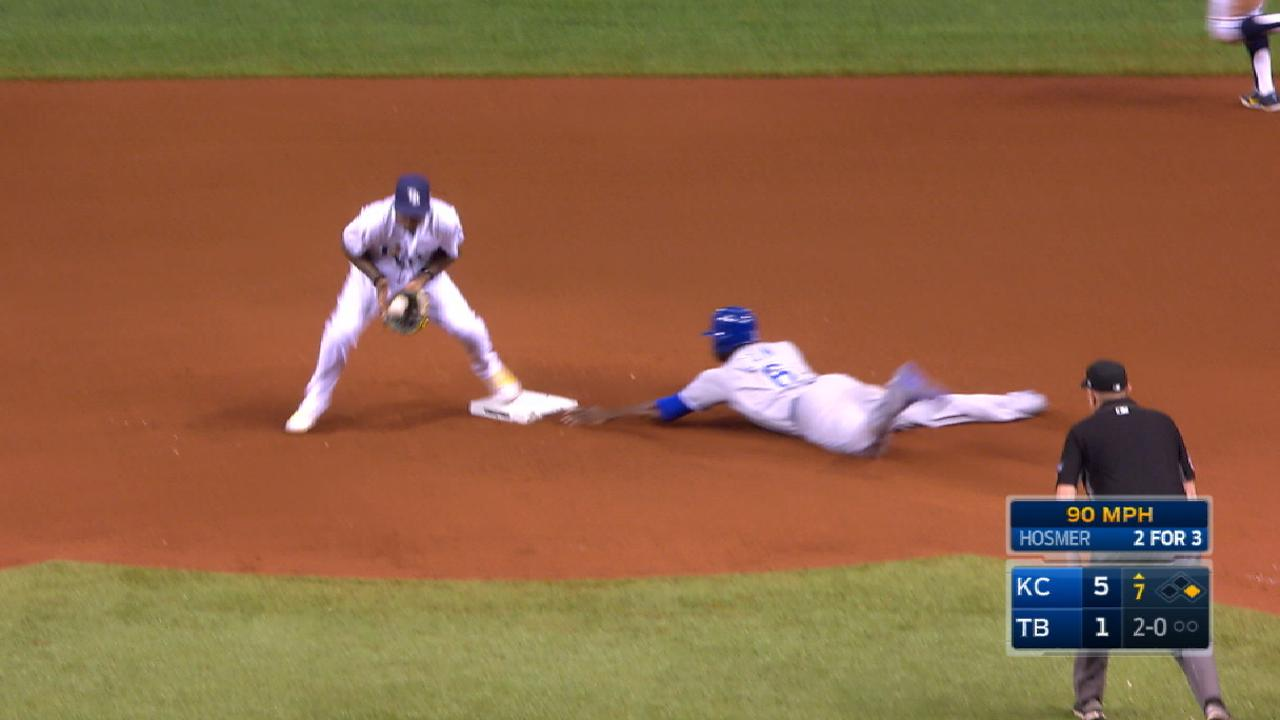 Royals steal four bases