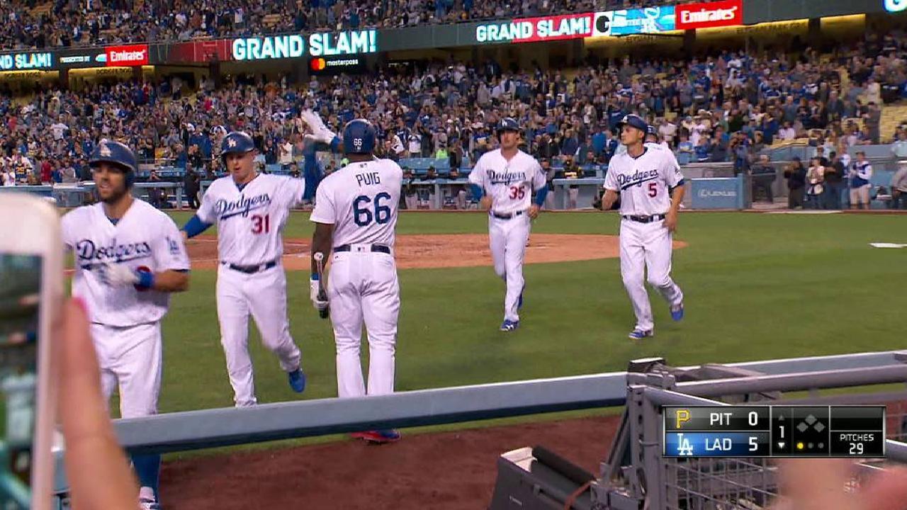 Taylor's slam keys Dodgers' rout of Bucs