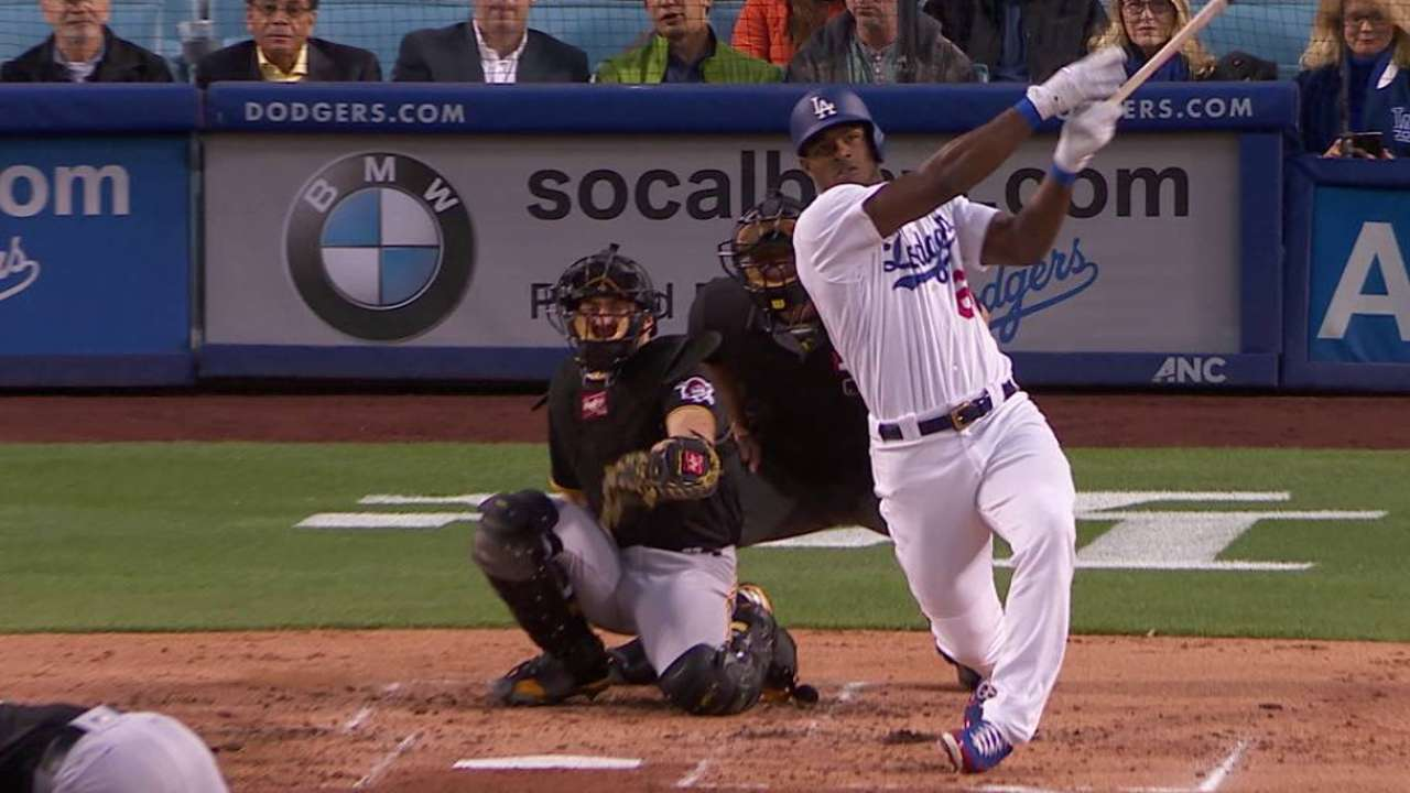 Taylor, Puig comandaron paliza de Dodgers sobre Piratas