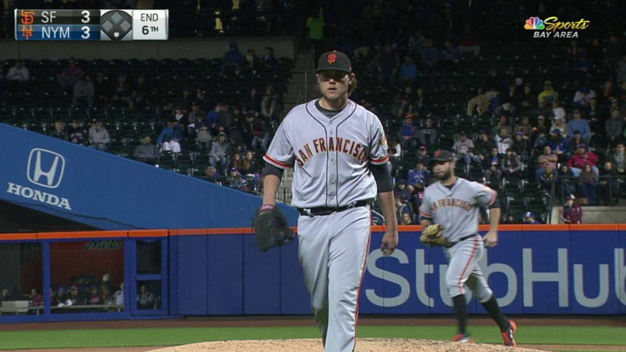 Walks especially painful in Giants' loss to Mets