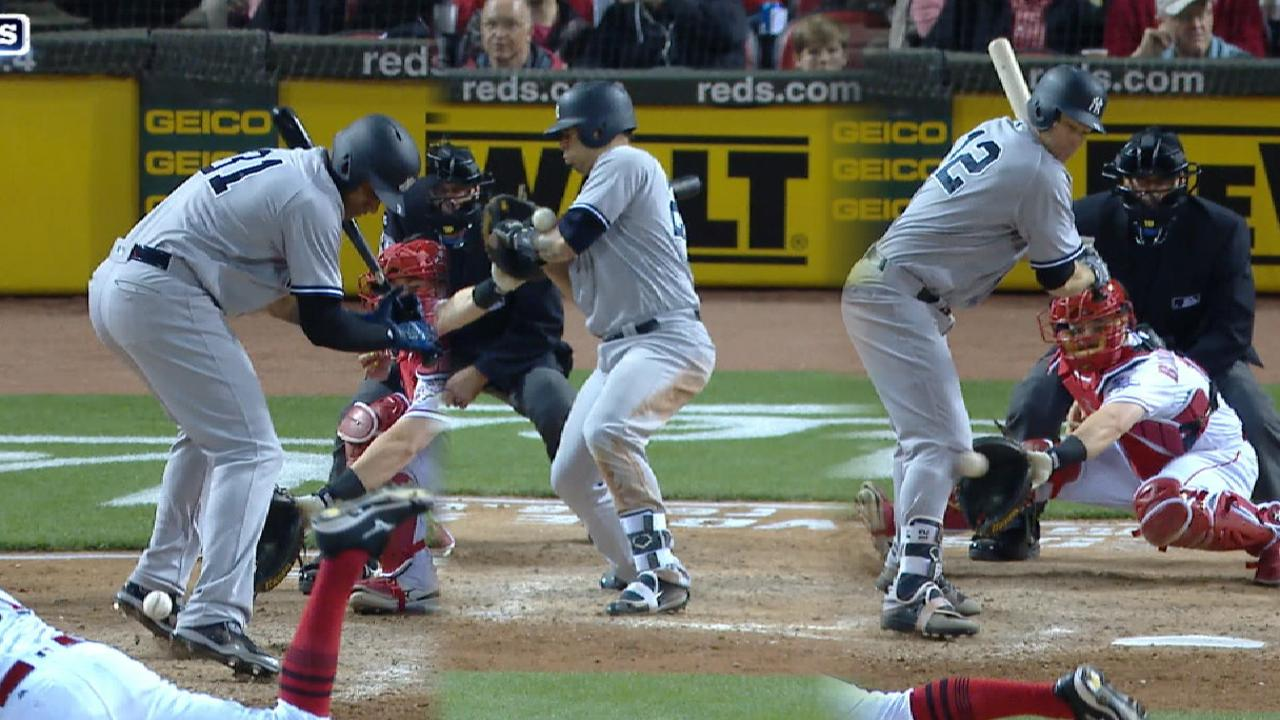 Yanks capitalize on three HBP