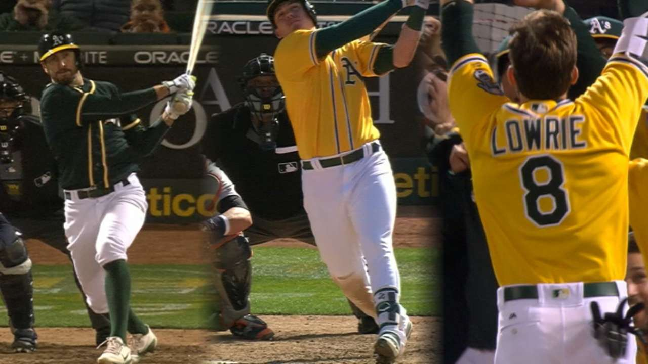 A's walk off three straight days