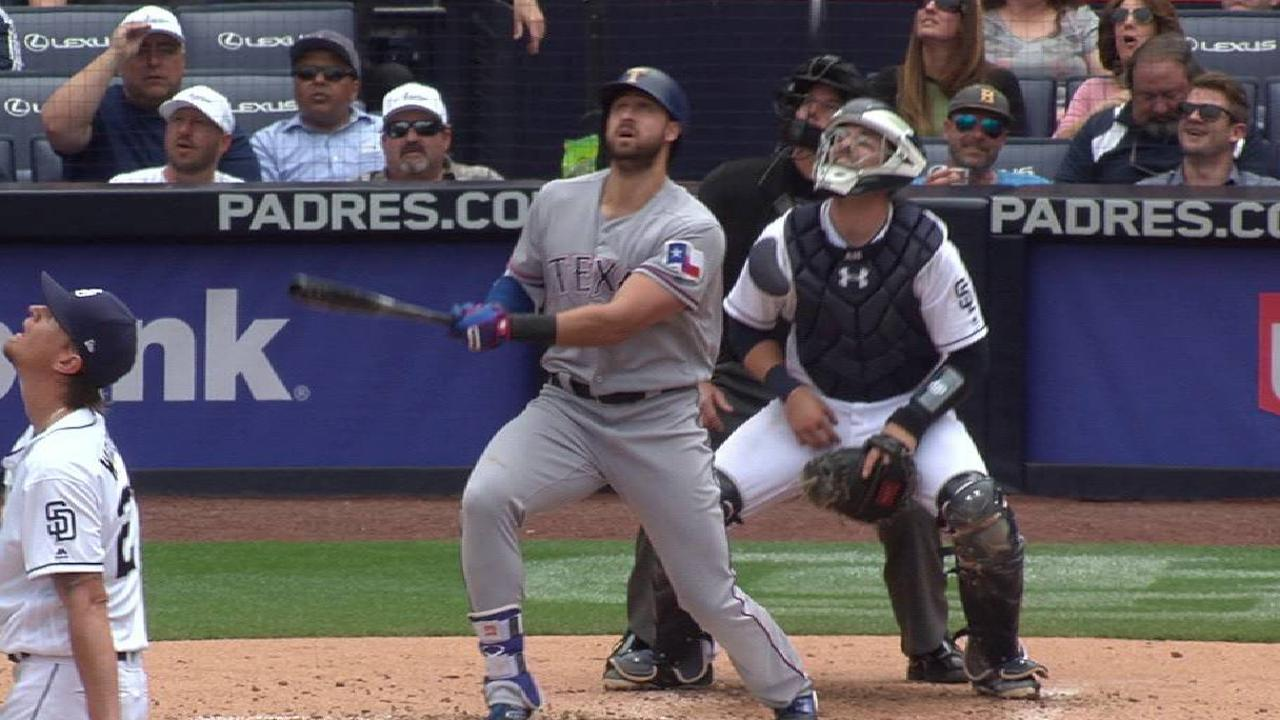 Rangers' offense re-energized with HR hat trick