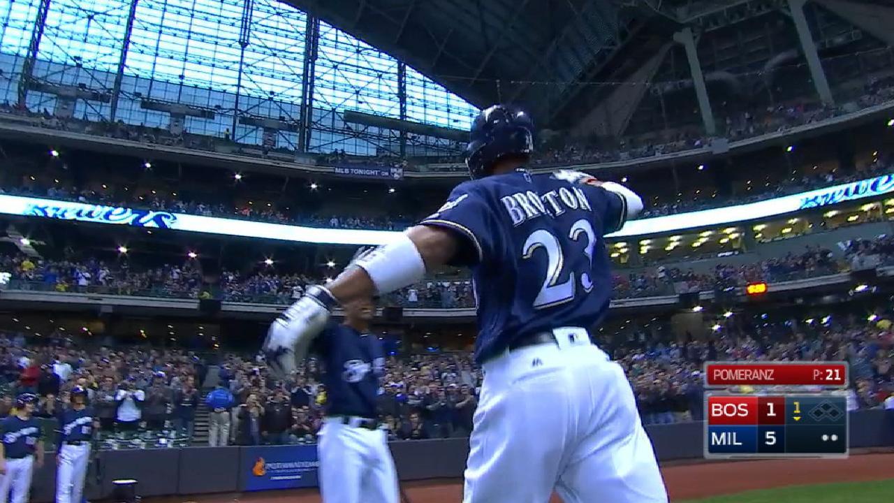 Brewers' five-run 1st inning