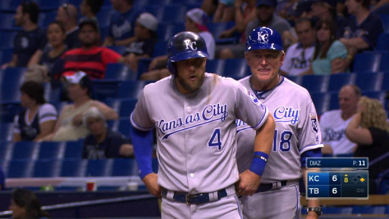 Royals' duo provides key hits against Rays