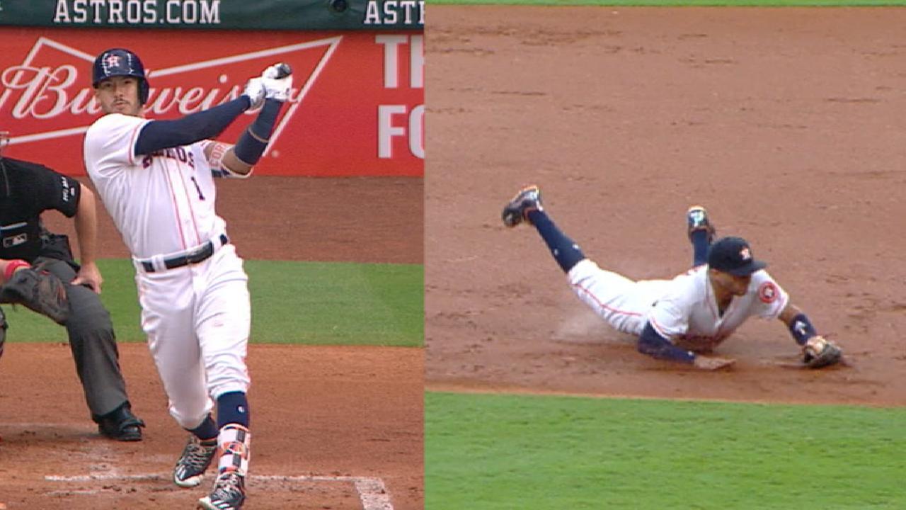 Correa sparks Astros' 3-HR party vs. Colon