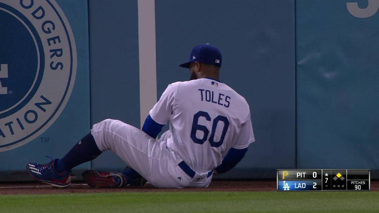 Toles exits early with injury