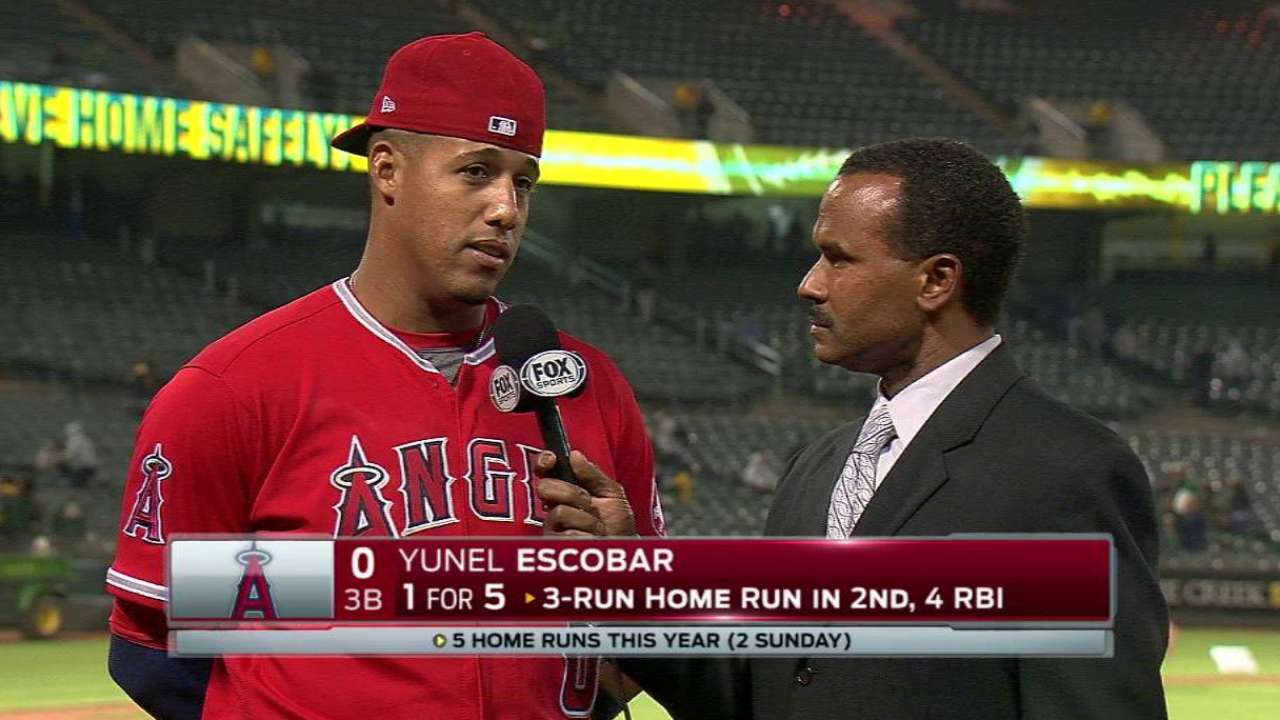 Escobar on 7-3 win vs. A's