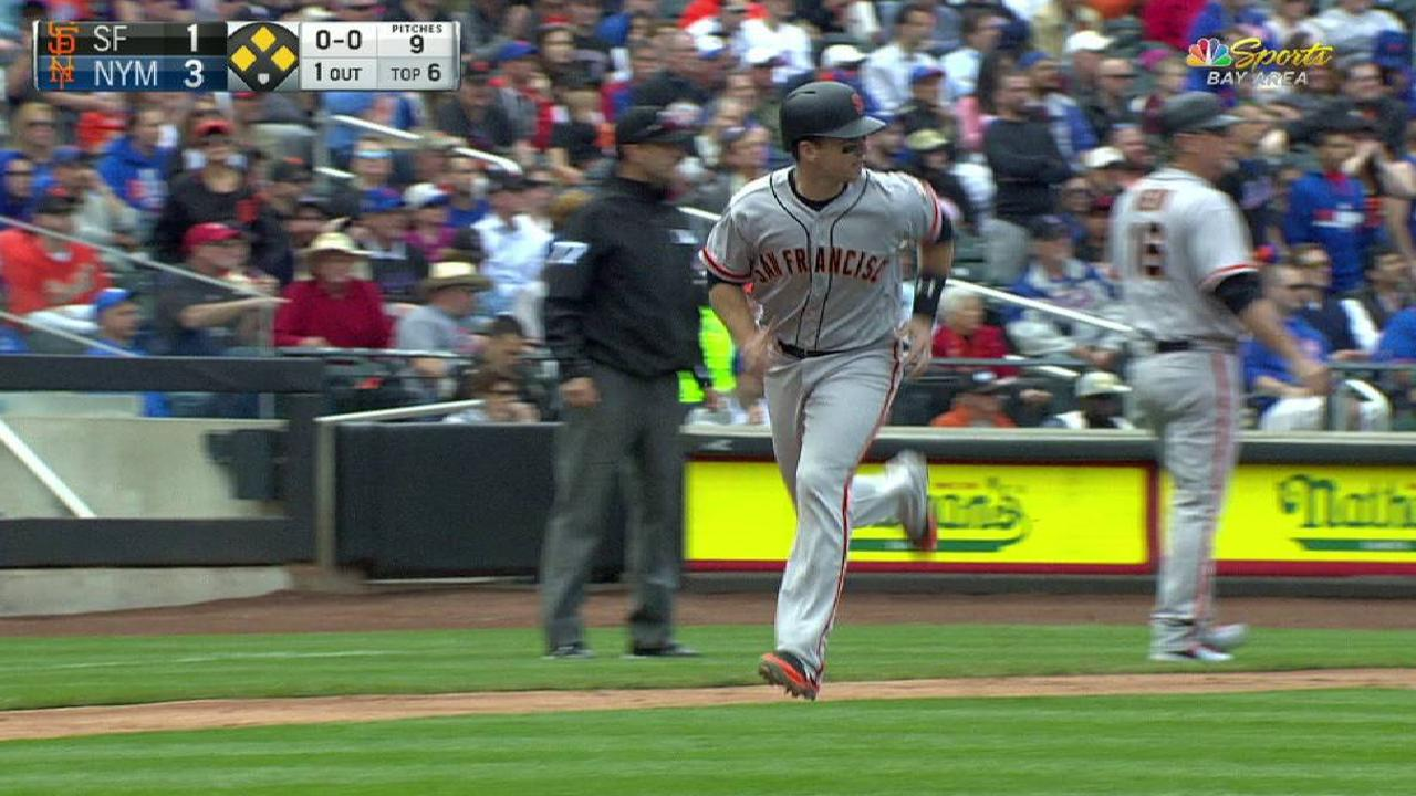 Ruggiano's sac fly to right