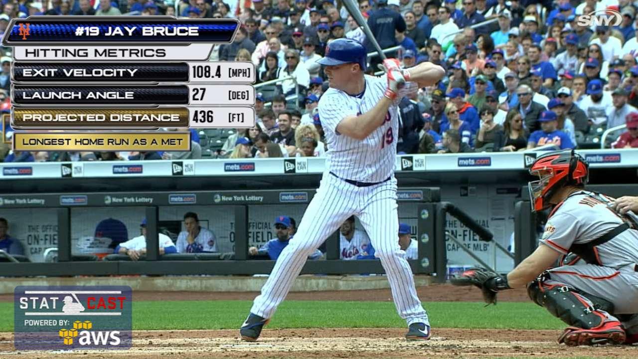 Statcast: Bruce's 436-ft shot