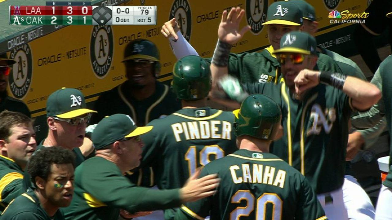 Pinder's two-run home run