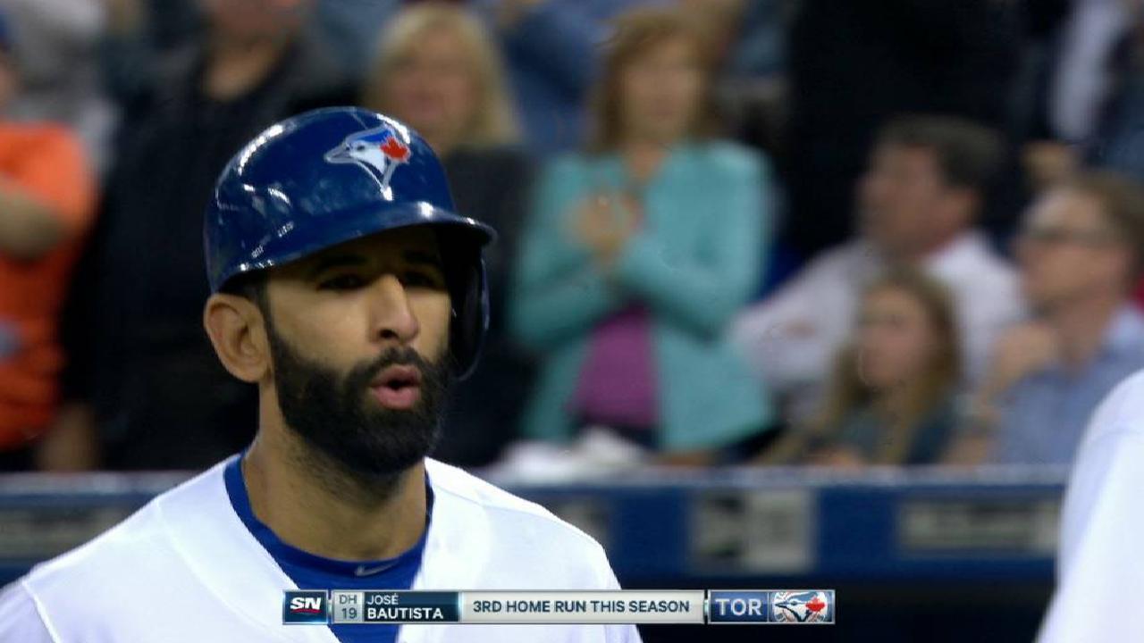 Bautista's laser three-run homer