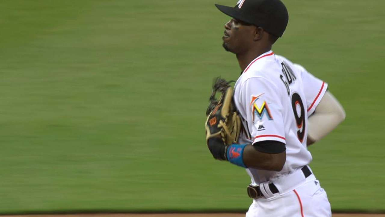 Injuries mean new faces in infield for Marlins