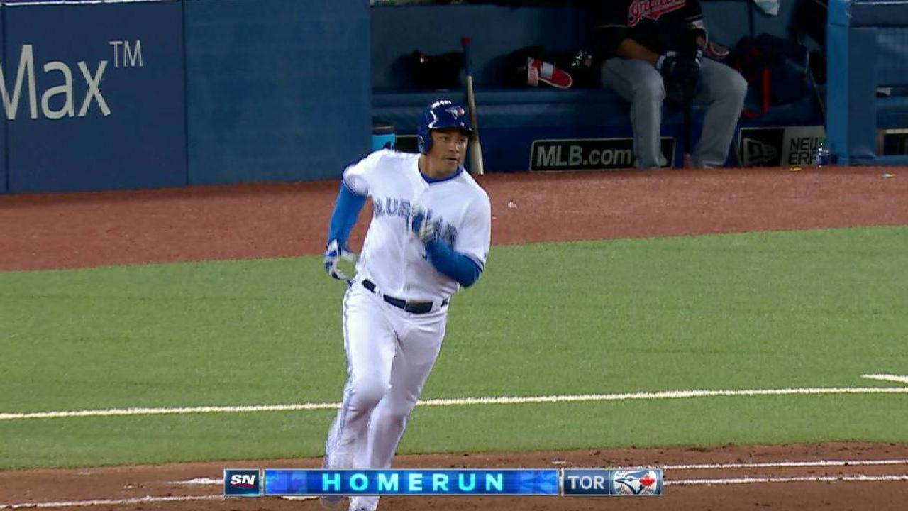 Carrera's two-run home run