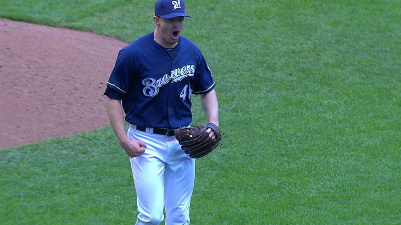 Knebel fans Rutledge in the 8th