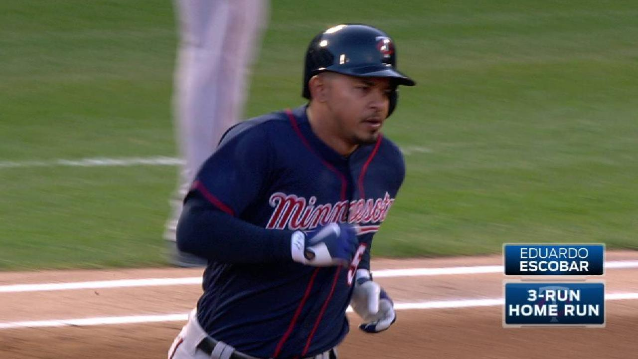 Trio of early HRs leads Twins to finale win