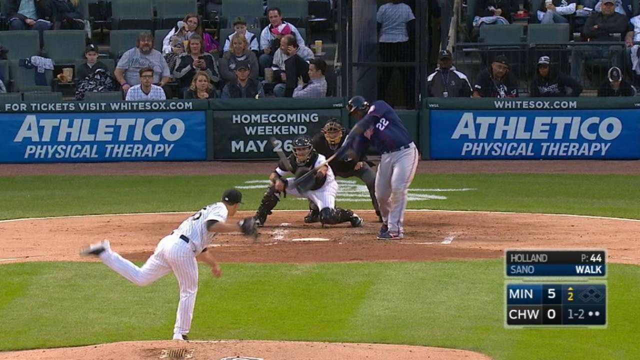 Sano homers on his birthday
