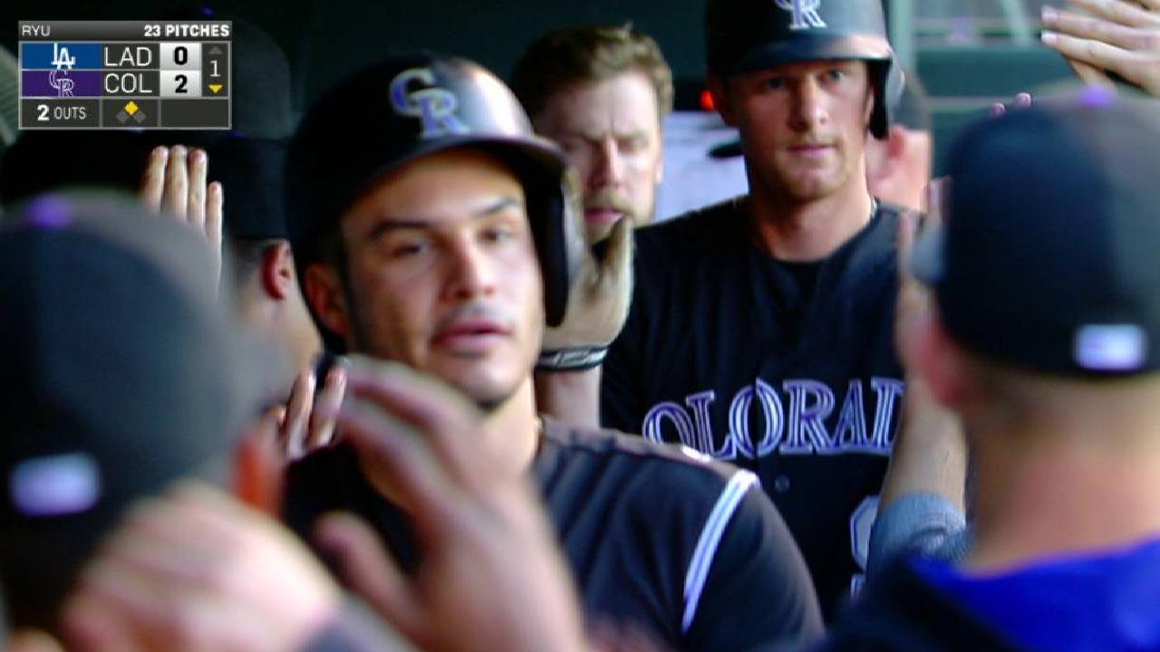 Red-hot Rox back Hoffman in win over L.A.