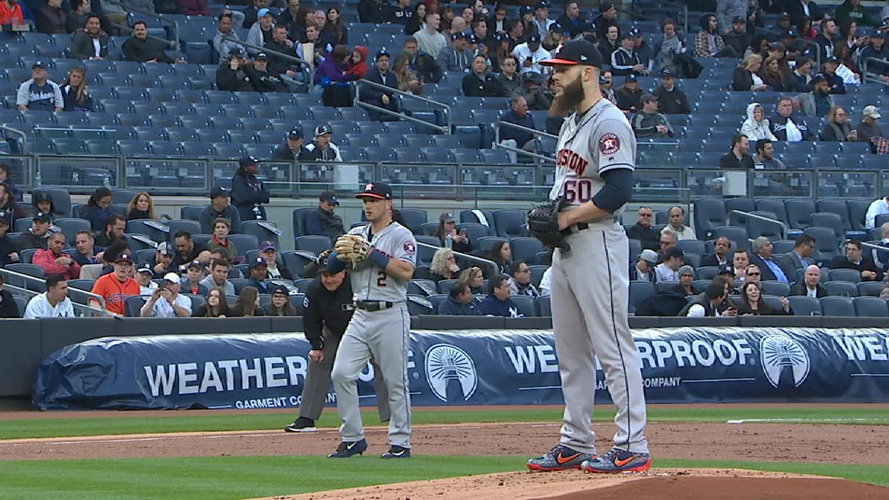 Keuchel strikes out nine