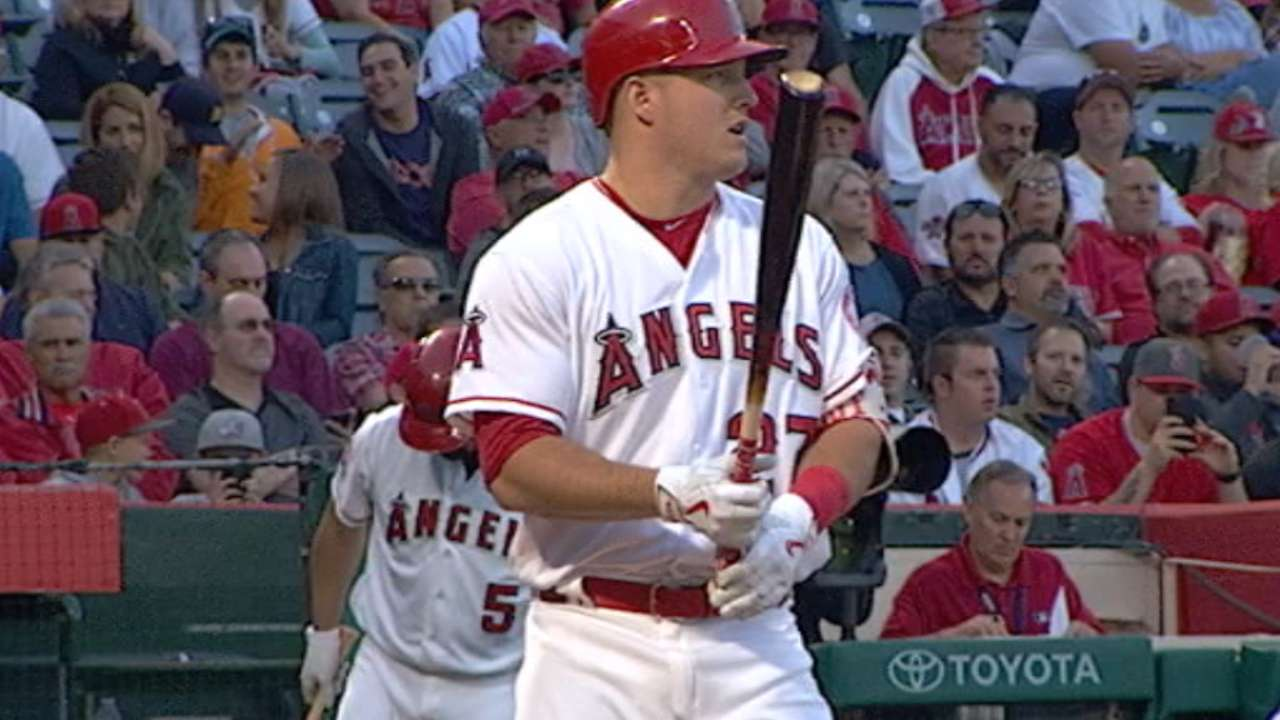 Trout returns as DH to ease back into action