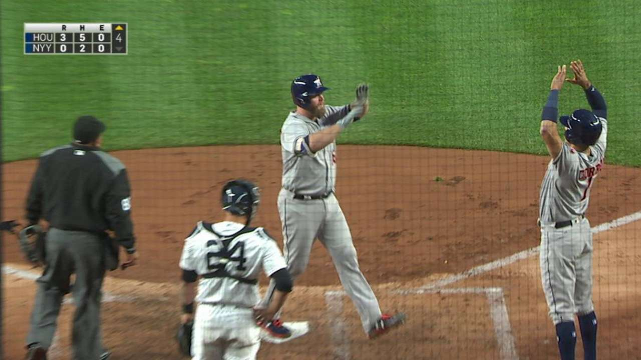 McCann's 3-run HR lifts Astros past Yanks