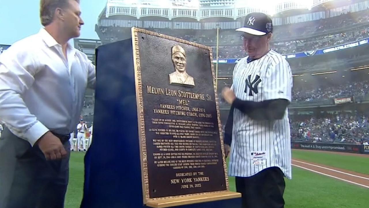Yankees honor Stottlemyre