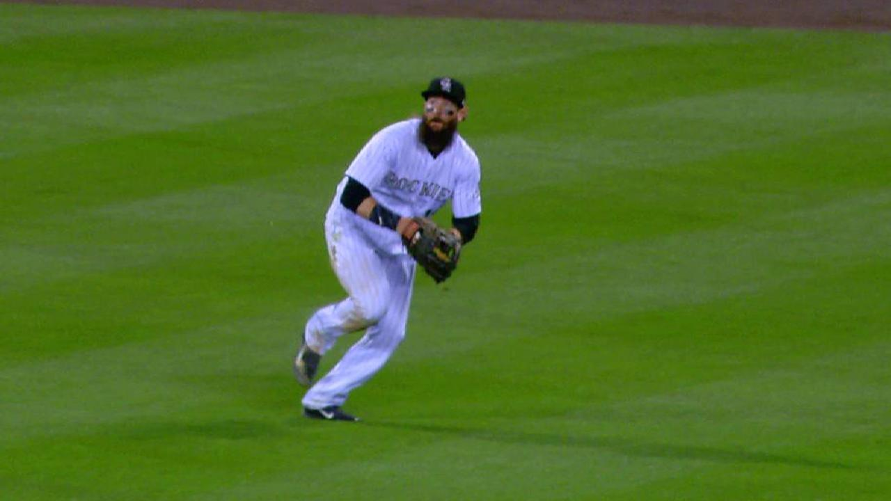 Blackmon relishes challenge of center field