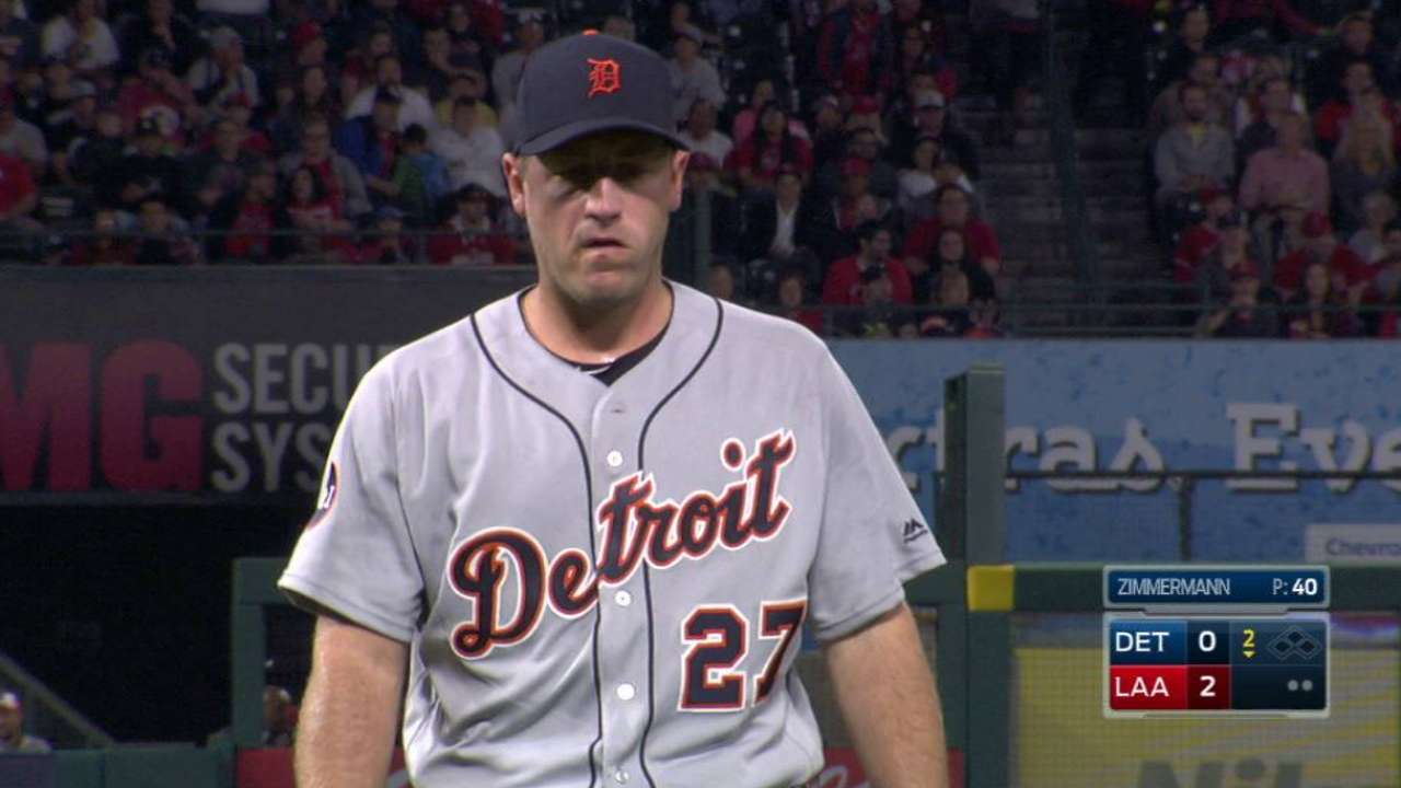 Zimmermann not shaken by rough outing