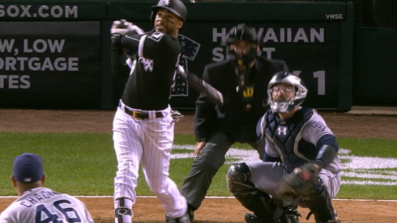 Leury unleashes in first multi-homer game
