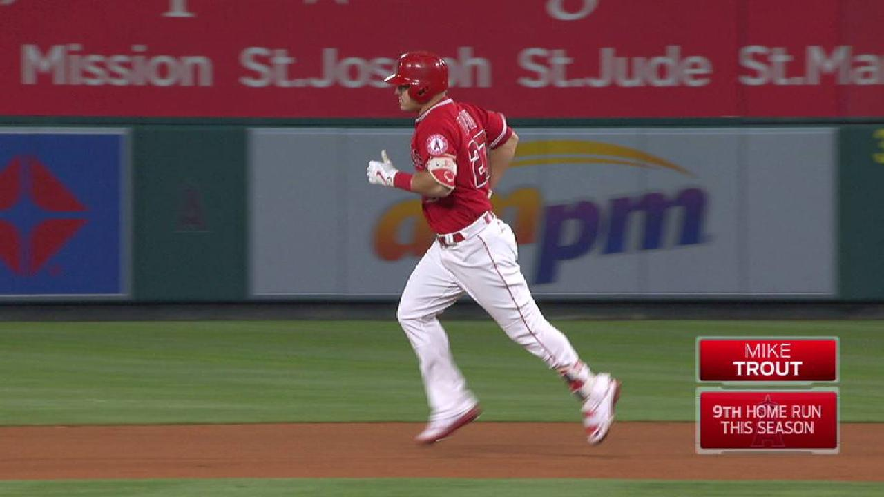 Trout's homer caps Angels' shutout of Tigers