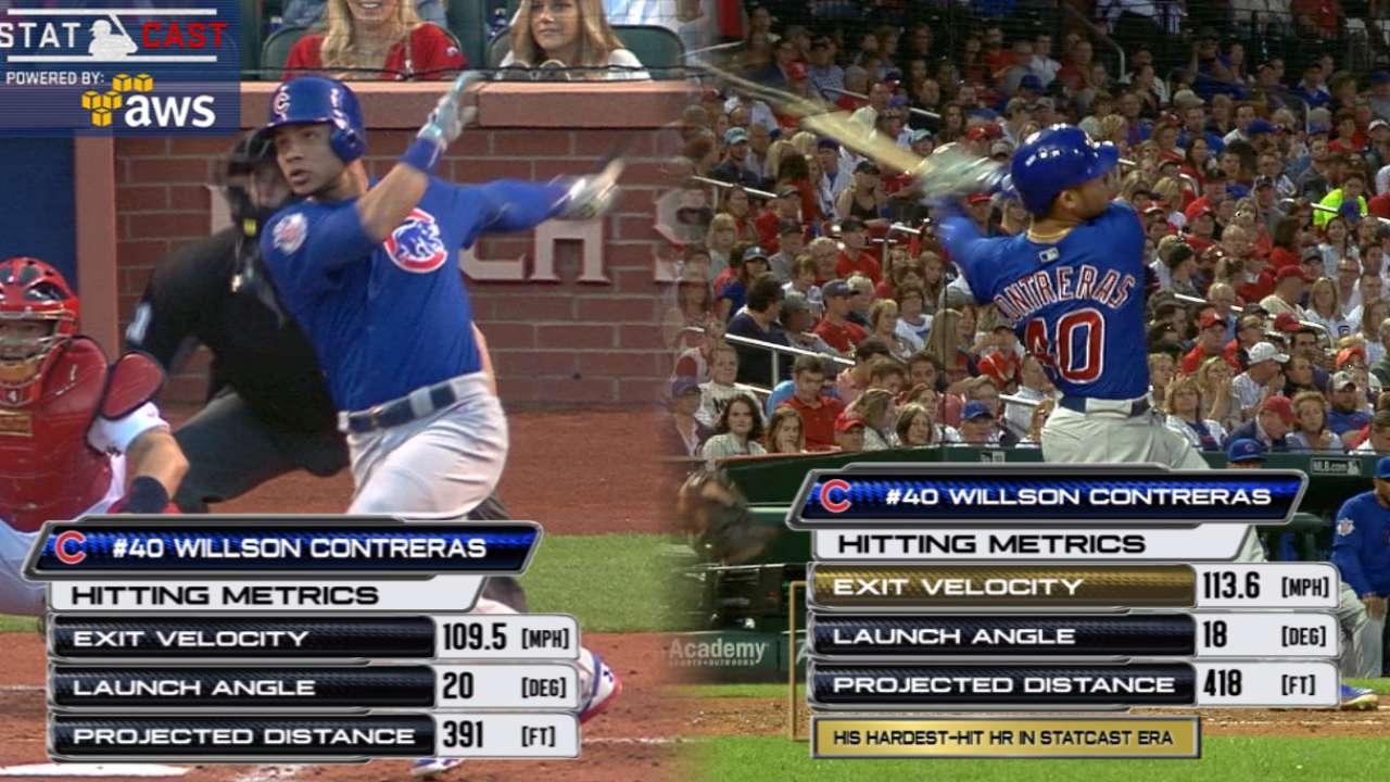 Statcast: Contreras homers twice