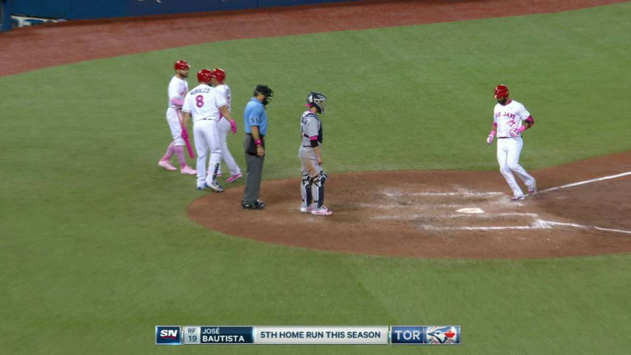 Bautista's three-run homer