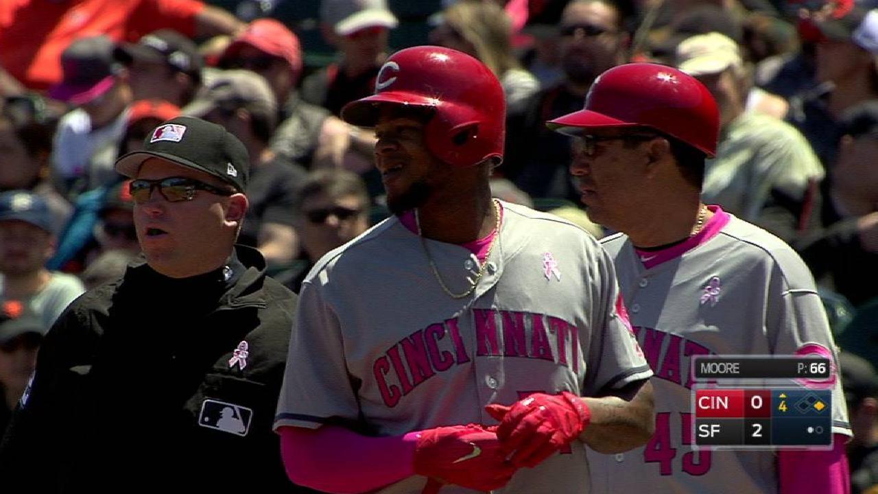 Bonilla's first Major League hit