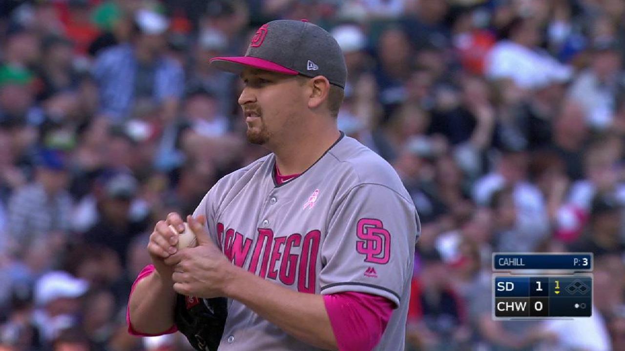 Cahill strikes out L. Garcia