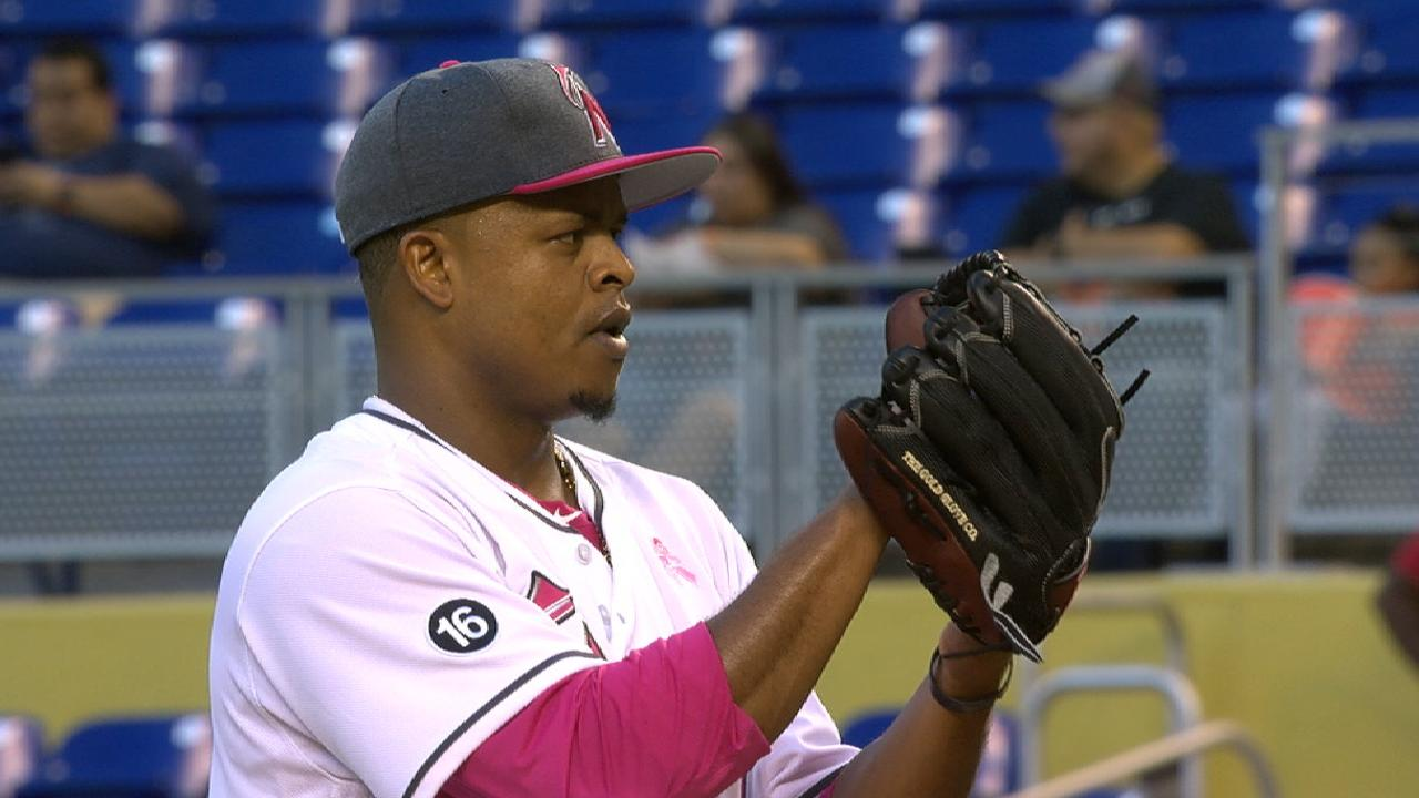 Volquez solid in return from DL