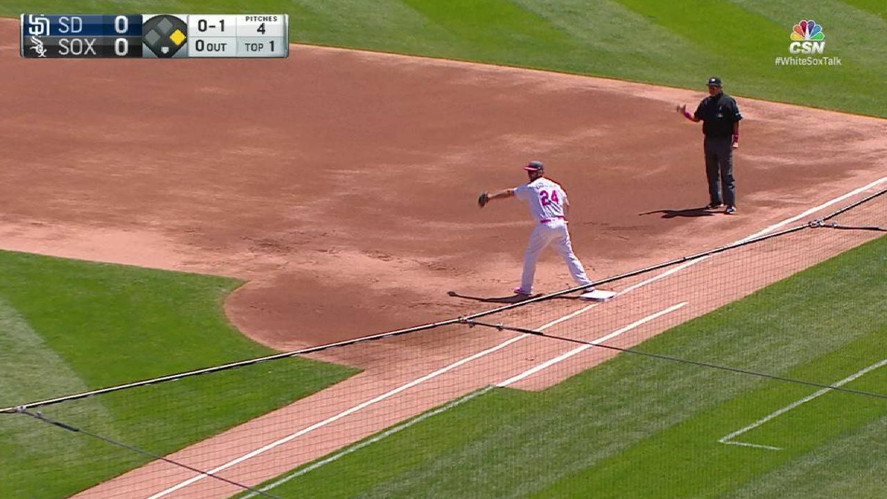 White Sox turn two in the 1st