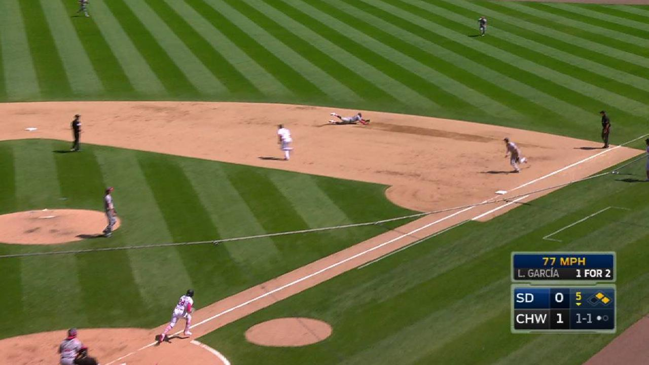 Solarte's stop saves run in 5th